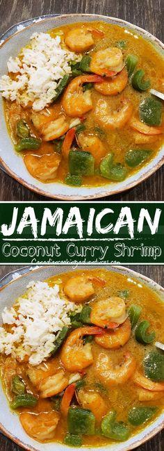 Curry Shrimp Jamaican, Coconut Curry Shrimp, Curry Recipes, Seafood Recipes, Seafood Dishes, Soup Recipes, Quick Dinner Recipes, Quick Easy Meals, Easy Recipes