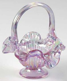 "*FENTON ART GLASS ~ Faberge 5"" Basket"