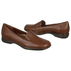 Trotters Jenn Shoes (Brown Leather) - Women's Shoes - 7.5 W