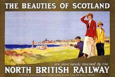 Vintage Travel Poster Golf Beauties Scotland North British Railway 24x36 by rodneysbookstore, http://www.amazon.com/dp/B002M0F68C/ref=cm_sw_r_pi_dp_c6Cxrb0KT04P3