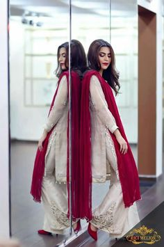 Because they say anything goes with red @raashikhanna Pakistani Wedding Outfits, Pakistani Dresses, Indian Dresses, Indian Outfits, Indian Attire, Indian Wear, Stylish Dresses, Fashion Dresses, Beautiful Suit