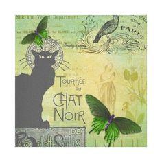 Vintage Paris Tour of Chat Noir Collage Canvas Print Graphic Art Prints, Art Prints Quotes, Modern Art Prints, Wall Art Quotes, Wall Art Prints, Canvas Prints, Kitchen Art Prints, Cheap Wall Art, Vintage Paris