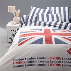 Union Jack and London London bedding
