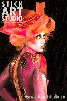 Escuela de maquillaje artístico y profesional Stick Art Studio.  Maquillaje realizado por Corinne Perez, directora de Stick Art Studio.  Barcelona, España