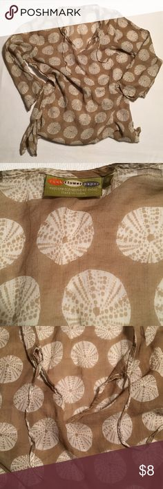 rock flower paper tunic