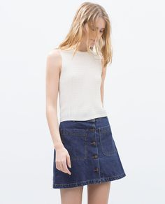 ZARA - NEW THIS WEEK - CABLE KNIT CROP TOP
