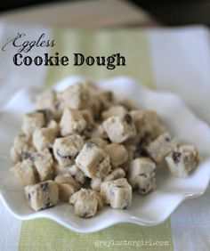Eggless Cookie Dough recipe.  Best one I have found.  Tastes true to real cookie dough.