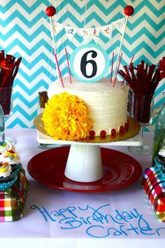 Cake: We love Carter's cake topper!