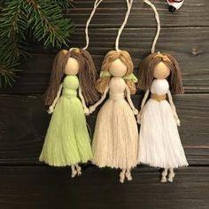 Yarn Dolls, Felt Dolls, Good Presents For Girls, Crochet Rabbit, Friendship Gifts, Angel Ornaments, Baby Room Decor, Etsy, Doll Clothes