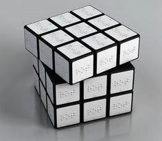 Rubik's Cube for the blind shows up at MOMA