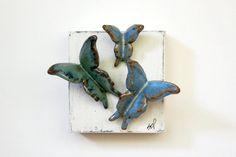 Farm Pond Butterflies by FarmhouseMud on Etsy, $29.00