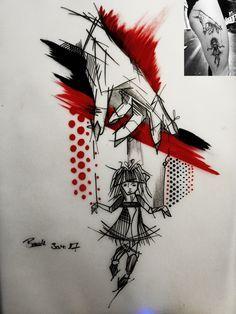 Image result for TRASH POLKA tattoo designs