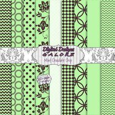 Mint Chocolate Chip Digital Paper Pack