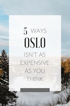 5 Ways Oslo isn't as Expensive as you Think | Read to find out the best places to go, and things to do for a budget holiday in Oslo. You'll be surprised that the city isn't always as expensive as you've heard!