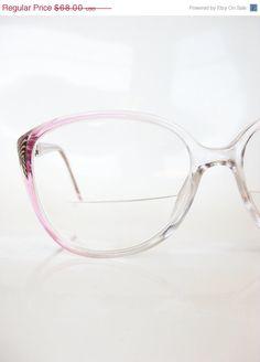 f1fe87b8510 Vintage 1980s PINK Eyeglass Frames LADIES 80s OVERSIZED Sunglass Optical  Frames Indie Hipster Grunge.  51.00