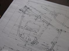 HARLEY DAVIDSON Pan Head 1958-64 Frame Blueprint Drawing poster print panhead