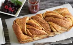 Move over cinnamon rolls! This braided cinnamon bread is perfect for breakfast or brunch. The braiding technique may look complicated, but it's easy enough – we promise. Fresh berries and fruit jams are wonderful complements to this bread, but nothing beats a simple pat of butter on a warm slice.Get the Recipe