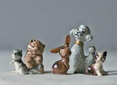vintage forest friends ceramic figurines by ModishVintage on Etsy