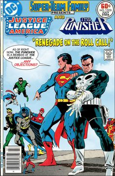 Super-Team Family: The Lost Issues!: Justice League of America and The Punisher