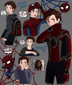 some (MCU)Peter Parker/Spider-man drawings I made weeks ago
