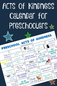 Acts of Kindness for Preschoolers - The Shirley Journey World Kindness Day is November We're sharing a free printable calendar with 25 Acts of Kindness for Preschoolers! Thanks Clangers for teaching us about kindness. Kindness For Kids, Teaching Kindness, World Kindness Day, Kindness Activities, Kindness Elves, Acts Of Kindness, Kindness Ideas, Preschool Classroom, In Kindergarten