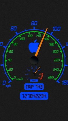 Apple Speedometer Wallpaper