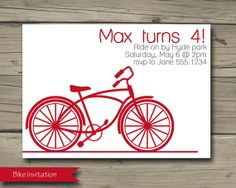Hey, I found this really awesome Etsy listing at http://www.etsy.com/listing/170220974/bicycle-invitation