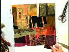 Carrie Burns Brown demonstrating how to create personalized textured papers - excerpt from DVD Water Media Collage www.amazon.com/...   REVIEW www.amazon.com/... #collage #mixed_media #art