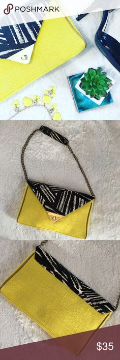 NWOT Canary Yellow & Black Burlap Purse Description to come. Mossimo Supply Co. Bags Shoulder Bags