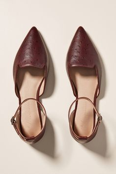 Benson D'Orsay Flats by Anthropologie in Purple Size: 9 W, Dad Sneakers, Retro Sneakers, Slip On Sneakers, Slip On Shoes, Plaid Heels, Fall Flats, Mid Calf Boots, Shoe Sale, Strappy Heels