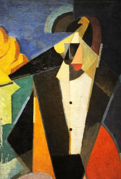 Albert Gleizes. Portrait of Igor Stravinsky. 1914, detail. MoMA, NYC | by renzodionigi