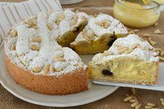 TORTA Pasticciotto al FORNO Limoncello, Dessert Recipes, Desserts, Biscotti, Italian Recipes, Nutella, Food To Make, Cheesecake, Food And Drink