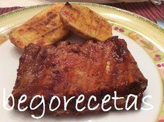 BEGORECETAS -RECETAS CON OLLAS GM Y COCINA TRADICIONAL: Costillas asadas con ketchup y miel (falsa barbacoa)