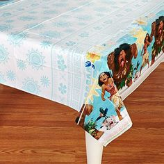 """American Greetings Moana 54"""" x 96"""" Plastic Table Cover"""