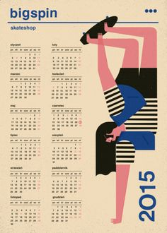 Dawid Ryski on Behance Web Inspiration, Graphic Design Inspiration, Reading Posters, Social Media Calendar, Calendar Design, Typography Poster, Illustrations And Posters, Children's Book Illustration, Branding Design