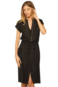 Rope V Neck Dress - love this style