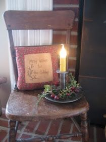 The Patriot Homeplace:  simple Christmas display