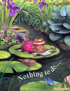 Очаровательный сказочный мир животных, созданный техасской художницей Сьюзен Вилер (Susan Wheeler) в технике акварель.