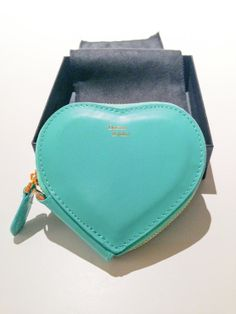 Leather Coin Purse Heart Blue coin purse  Little by Freckleslane, $49.00