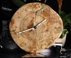 Glow in the Dark Clock Wood Clock Wooden Wall Clock Wooden