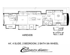 2 bedroom/2 bath 5th Wheels and Travel Trailers | RV | Pinterest ...