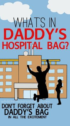 What's in Daddy's Hospital Bag? You've packed hospital bags for mom and baby. but what about Daddy? What will Daddy need for the big day? Find out what must-haves you'll want in Daddy's Hospital Bag. Getting Ready For Baby, Preparing For Baby, Baby On The Way, Mom And Baby, Doula, Daddy Hospital Bag, Guy's Hospital, Baby Boys, Baby Daddy