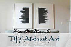Burlap & Lace: DIY Abstract Art