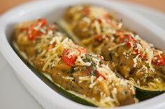 Gefüllte Zucchini mit Polenta | vegane Rezepte in Hauptgerichte