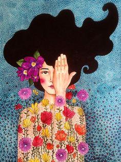 Hulya Ozdemir magical watercolors in many colors Illustration # Watercolors # Art And Illustration, Animal Illustrations, Painting Inspiration, Art Inspo, Pop Art, Art Amour, L'art Du Portrait, Portraits, Art Design
