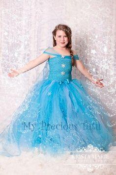 Queen Elsa Frozen Inspired Dress by My Precious by MyPreciousTutu, $155.00