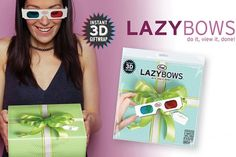 Lazy Bows 3D Wrapping Paper-   CRA CRA!