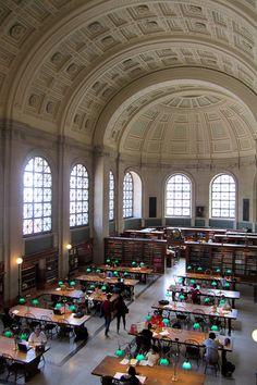 Boston Public Library McKim Building - Bates Hall by wallyg, via Flickr