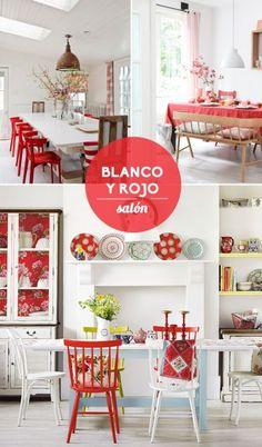 blanco y rojo - salon