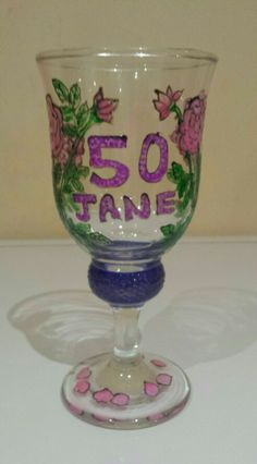 Birthday glass